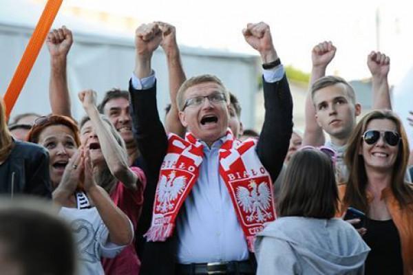 Polska Irlandia 1:0! Zdjęcia z częstochowskiej strefy kibica.