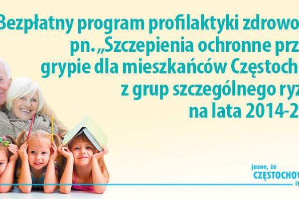 Prezydent Częstochowy zaprasza mieszkańców na bezpłatne szczepienia przeciw grypie