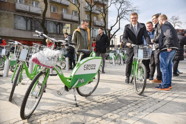Sukces rowerów miejskich! Ponad 5 tys. wypożyczeń w tydzień!