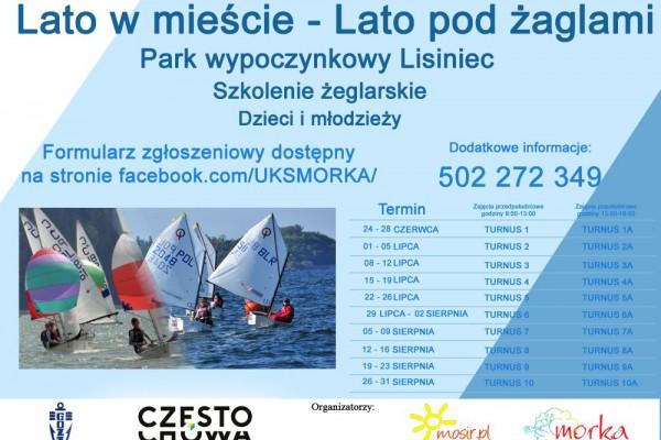 Są dodatkowe miejsca na półkolonie żeglarskie w Parku Lisiniec