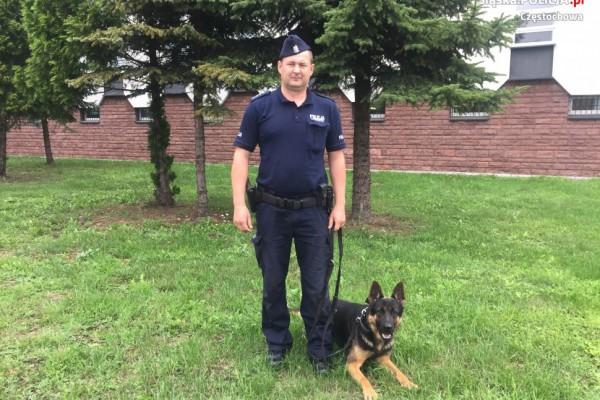 Częstochowska policja ma nowego psa. To Rambo