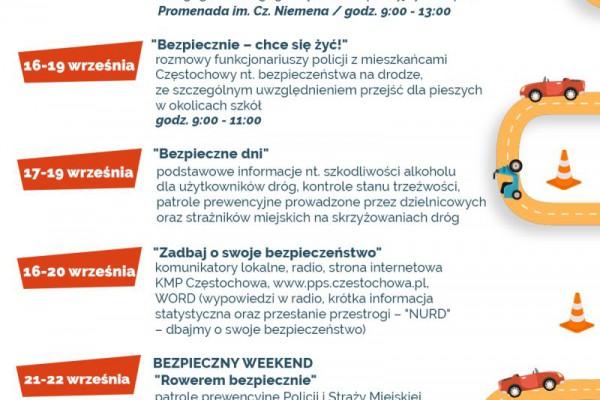 Bezpiecznie na częstochowskich drogach. Trwa druga edycja miejskiej kampanii społecznej