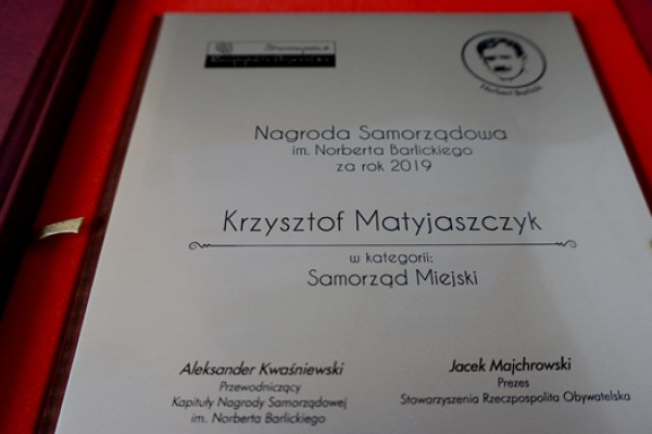 Krzysztof Matyjaszczyk uhonorowany Nagrodą im. Barlickiego