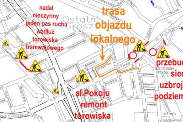 PKP Częstochowa-Raków. Przejazd pod wiaduktem zamknięty od piątku