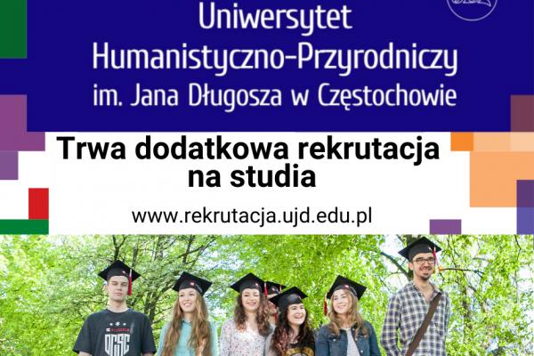 Częstochowski uniwersytet jeszcze rekrutuje na studia