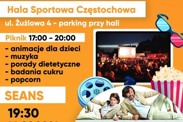 """""""Kino na leżakach"""" i piknik na parkingu Hali Sportowej Częstochowa"""