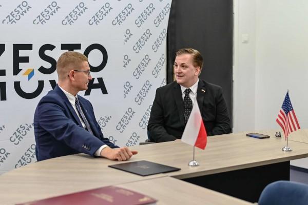 Konsul USA z wizytą u prezydenta Częstochowy