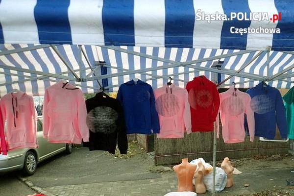 Bułgarzy handlowali w Częstochowie podróbkami markowej odzieży